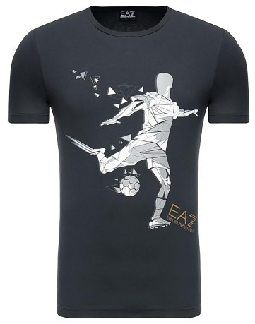 T-shirt Uomo Train Graphic blu davanti