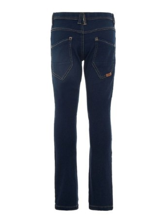 Jeans Regular Fit Denim Scuro Bambino