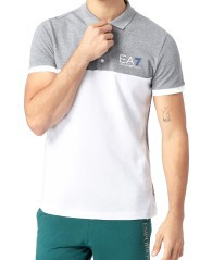 Polo Man Train 7 Colors: White-gray model in front of