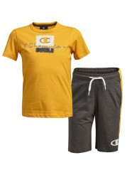 Complete Baby T-Shirt and shorts-yellow grey