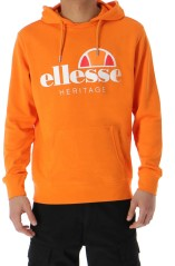 Herren Sweatshirt Fleece Orange