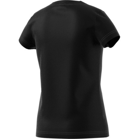 Junior T-Shirt Essential Linear Black Front-White