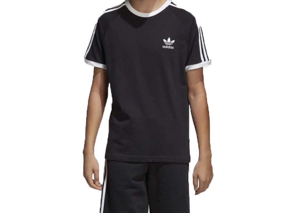 adidas 3 stripes tee nero