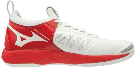 Shoe Women Wave Momentum Side White-Red