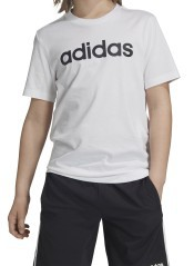 T-Shirt Junior Essentials Linear Logo Frontale Bianco