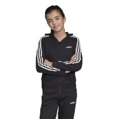 Felpa Junior Hoodie 3-Stripes Frontale Nero