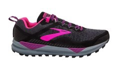 Shoes Woman Trail Running Cascadia 14 black purple