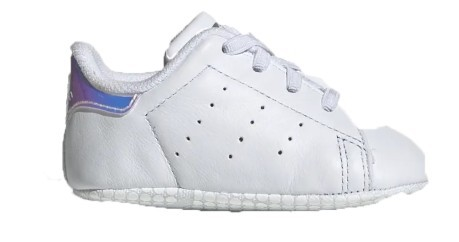 Shoe Baby Stan Smith White Side-Silver