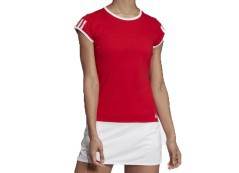 T-Shirt Donna 3Stripes Club Tee Frontale Rosso