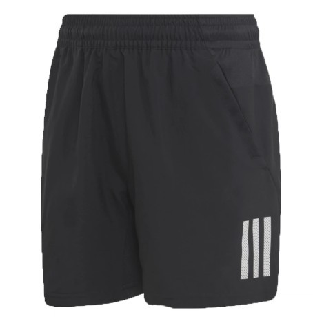 Short Bambino Boys Club 3Strepees Frontale Bianco-Nero