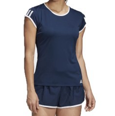 T-Shirt Donna 3 Streepes Club Frontale Blu