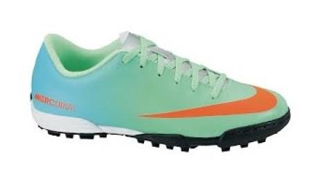 Shoes soccer Mercurial Vortex TF child colore Green Light blue ... 92fa5691458de