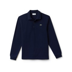 Polo Uomo Sport Piquet Light Frontale Blu non indossato
