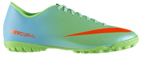 Shoes soccer Mercurial Victory IV TF colore Green Light blue - Nike ... 5f6c0ded7b9f5