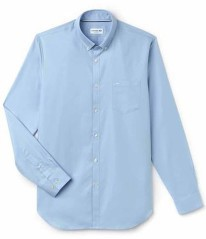 Man Shirt Mini Pique Front Blue