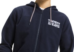 Men's Sweatshirt Graphic Zip Full Front Blue