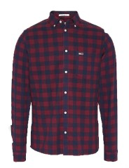 Man Shirt Sustainable Gingham Shirt Front Patterned-Red