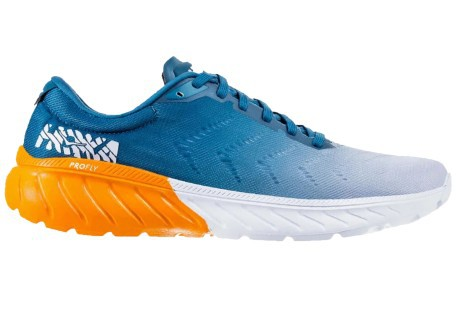 Running shoes mens Mach 2 A3 light blue orange
