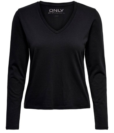 T-Shirt Donna OnlCate Frontale Nero