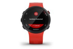 GPS watch 45-S black red reports