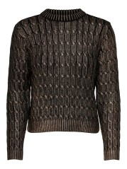 Sweater Woman OnlGlow Front Black-Gold