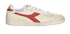 Mens shoes Game L Low waxed paper white red
