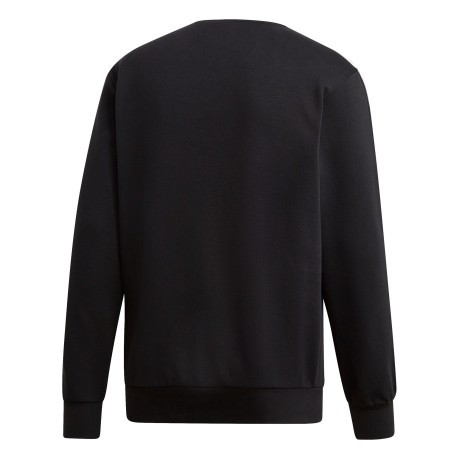 Felpa Essential 3 Stripes Crewneck Fleece nero
