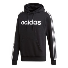 Felpa Essentials 3 Stripes Pullover Fleece nero