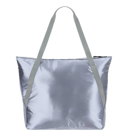 Borsa Donna Shopping Metallic grigio