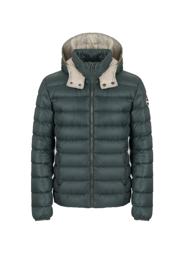 Details about Mens Quilted Jacket Semigloss Hood Detachable Colmar Originals