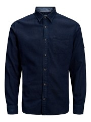 Man shirt With Only one chest Pocket blue