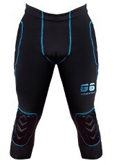 Goalkeeper pants Gisixsport Compression 3/4 black