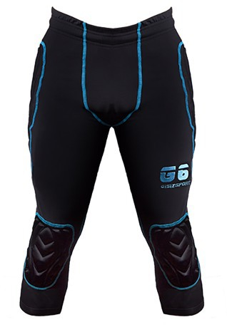 Pantaloni Portiere Gisixsport Compression 3/4 nero