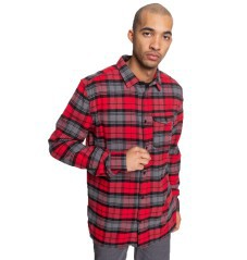 Man shirt Flannel Marsha red worn next