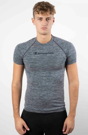 T-Shirt Uomo Train Seamless blu modello davanti
