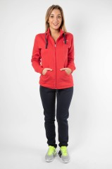 Suit Woman W Heritage Tracksuit Fz Front Red-Blue
