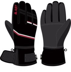 Ski gloves Men-Sky black-red