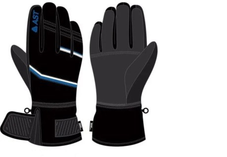 Gloves Junior Ski Sky black-red