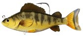 Künstliche Yellow Perch Swimbait 134 mm braun