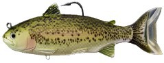 Artificiale Trout Swimbait 168 mm verde rosa