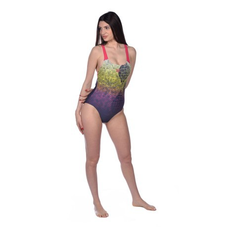 Costume Intero Donna Daytrip New Swim Frontale Blu