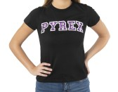T-Shirt With Girl Written On The Glitter Front Black-Purple