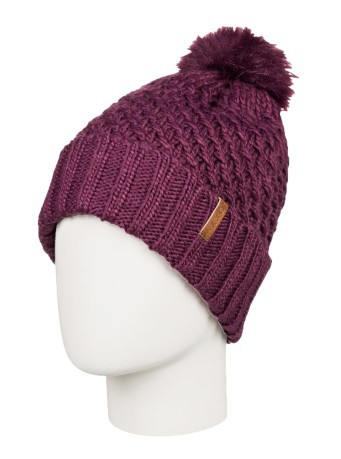Woman hat Blizzard With Pompom purple