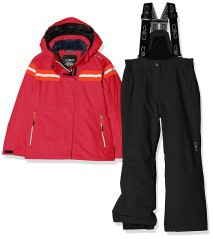 Ski outfit Girl red black