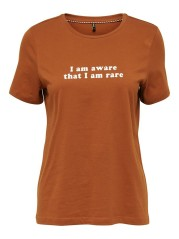 T-Shirt Donna Statement arancio
