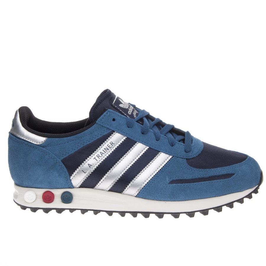 adidas trainer pelle blu