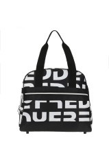 Gym bag stiff and shoulder strap Black