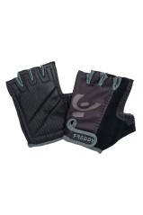 Gloves gym fingerless technical fabric Black