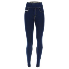 Denim pants Woman's life risvoltabile Blue