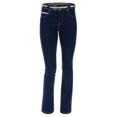 N. O. W.® Pants Woman Slim Fit Denim effect the bottom straight Blue